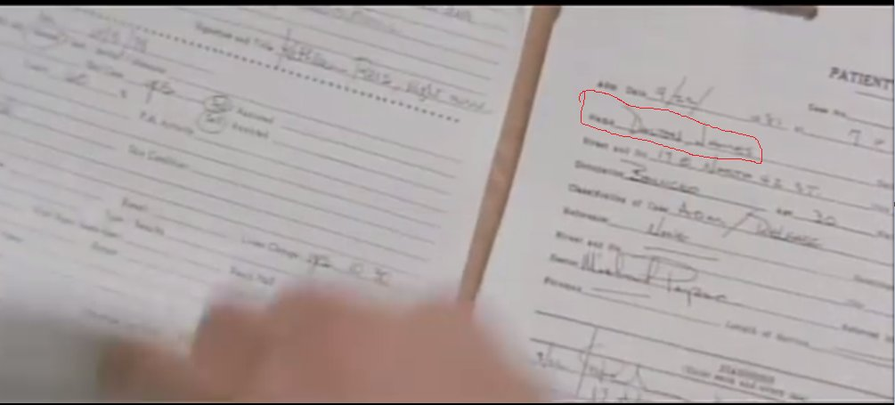 Image of hospital Patient record with the name Dalton James