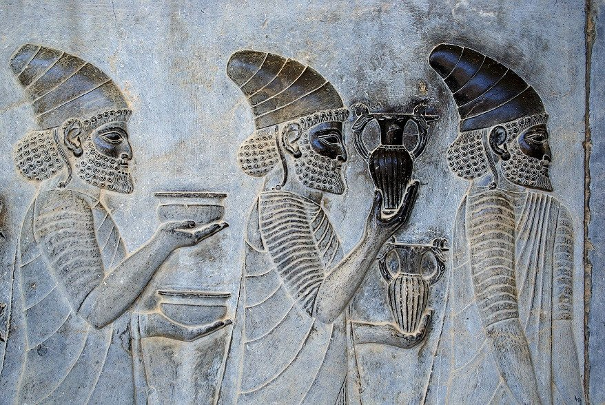 the common appearance for Achaemenid rulers